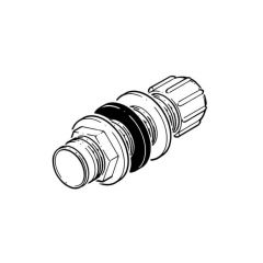 Overflow Pipe Straight Tank Connector - 21.5mm White