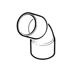 End Feed Obtuse Elbow 45° - 22mm F x F