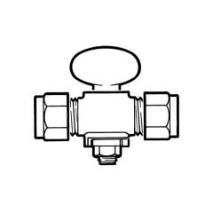 Rigid Fan Gas Cock - 22mm Compression