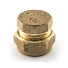 Stop End UK Compression Brass - 22mm