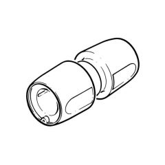 Hep2O® Straight Connector - 22mm White