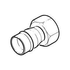 """Solder Ring Straight Tap Connector - 22mm x 1/2"""""""