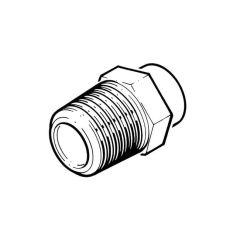 """Solder Ring Connector - 22mm x 1/2"""" BSP TM"""
