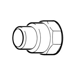 """End Feed Adaptor Coupling - 22mm F x 1"""" BSP F"""
