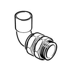 """End Feed Bent Male Union Connector 22mm x 3/4"""""""