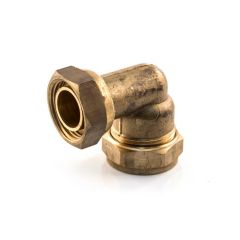 "Bent Tap Connector UK Compression 22mm x 3/4"" BSP PF"