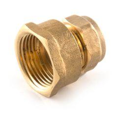 "Compression Straight Adaptor - 22mm x 3/4"""