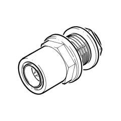 "22 mm x 3/4"" - Cuprofit Push-fit Tank Connector - Push-fit x BSP Male"