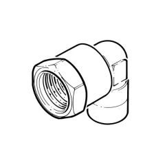 """End Feed Elbow 90° - 22mm x 3/4"""" BSP TF"""