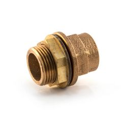 """End Feed Tank Connector 22mm F x 3/4"""" BSP Parallel M"""