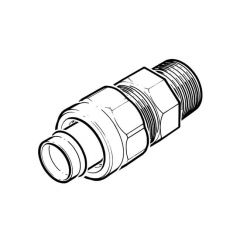 """Solder Ring Straight Union Connector 22mm x 3/4"""" BSP TM"""
