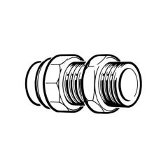 """End Feed Union Coupling 22mm x 3/4"""" with Cone Joint"""