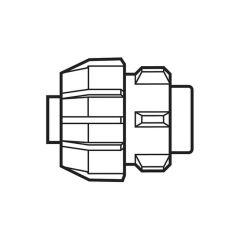 25 mm End Cap - Compression