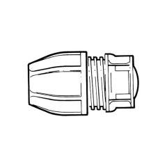 Philmac® End Cap - 25mm Yellow MDPE