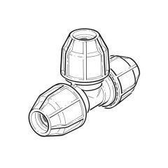 FloPlast Below Ground Equal Tee - 25mm MDPE