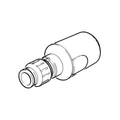 JG Speedfit Underground PE-Copper Coupler 25mm x 15mm