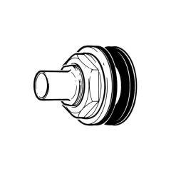 Cylinder Flange - 28mm Outlet