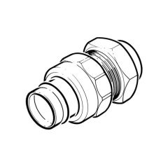 Solder Ring Union Coupling 28mm Cone Joint to BS 1010