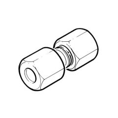 """Stainless Steel F Stud Coupling 28mm x 1"""" BSP PF"""
