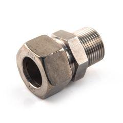 """Stainless Steel M Stud Coupling 28mm x 1"""" BSP TM"""