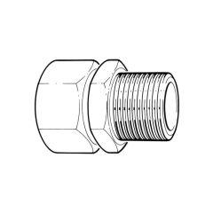 "TracPipe® Gas Straight Fitting DN28 x 1"" BSP TM"