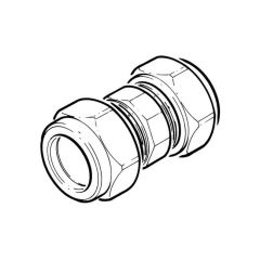 Compression Straight Coupling - 28mm x 28mm