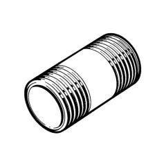"""Barrel Nipple - Mild Steel - Black 2"""""""