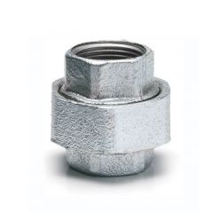 "Iron Equal Union Connector Straight - 2"" F Galvanised"