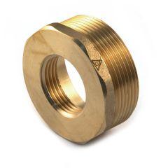 """Brass Threaded Hexagon Bush 2"""" BSP PM x 1.1/2"""" BSP PF"""