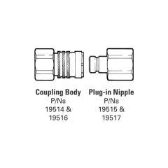 """Plug-In Nipples - 3/4"""" BSP F"""