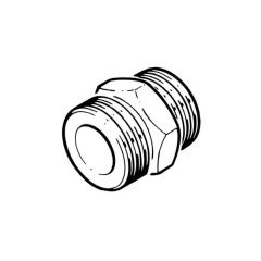 "Solar Pipe Straight Coupler 3/4"" for DN16 Pipe"