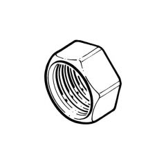 "Solar Pipe Brass Nut 3/4"" F for DN16 Pipe"