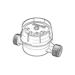 "Single Jet Hot Water Meter - 3/4"""