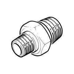 "Brass Hexagon Reducing Nipple - 3/4"" x 1/2"" BSP T"