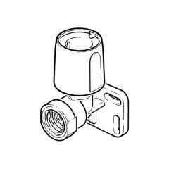 "Hep2O® Wallplate Elbow - 3/4"" BSP x 22mm White"