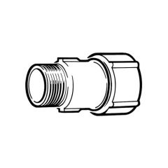 "Primofit® Adaptor Gas 3/4"" BSP M x 25mm MDPE Black"