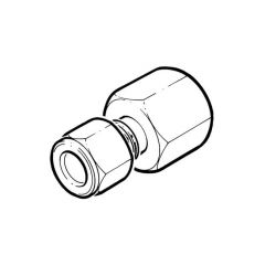 """Stainless Steel F Stud Coupling 3/8"""" BSP PF"""