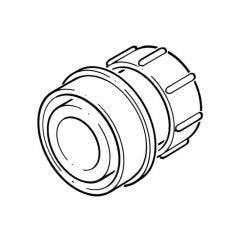 Waste Straight Adaptor Solvent/Compression 32mm grey