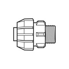 "32 mm x 1"" - Polyguard Adaptor - Compression x BSP Parallel Male"
