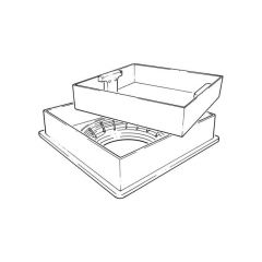 320 mm Recessed Pavior Cover - 390 mm x 390 mm