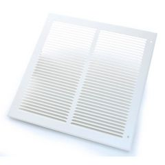 Steel Ventilator - 346mm x 346mm, White