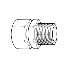 "TracPipe® Gas Straight Fitting 40mm x 1/1/2"" BSP TM"
