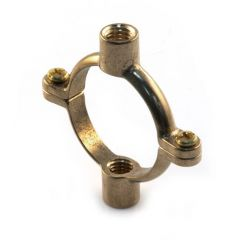Munsen Double Ring Clip - 42mm Tapped M10 Brass