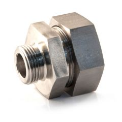 """Stainless Steel M Stud Coupling 42mm x 1"""" BSP PM"""