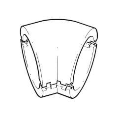 Domus Easipipe 45° Bend Insulation - 125mm Dark Grey