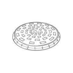 460 mm Circular Cast Iron Cover & Frame (A)