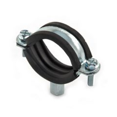 Rubber Lined Mild Steel Zinc Plated Clip - 47 to 51mm