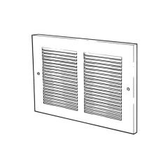 Steel Ventilator - 498mm x 143mm, White
