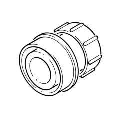 Soil & Vent Angled Adaptor Solvent/Compression 50mm Black