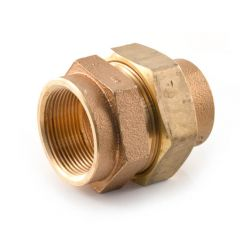 """Solder Ring Straight Union Connector 54mm x 2"""" BSP F"""